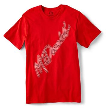 Picture of Red McDonald's Slant T-Shirt