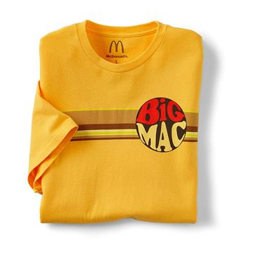 Picture of Gold Retro Big Mac T-Shirt