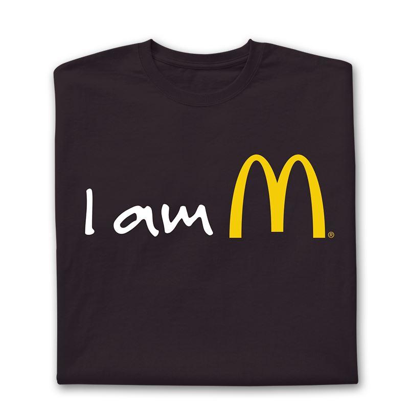 4fdb283811f Black I am McDonald s T-Shirt