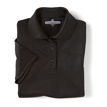 Picture of Ladies' Black Performance Polo