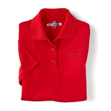 Picture of Ladies' Red Performance Polo