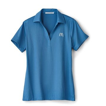 Picture of Ladies' Blue Jacquard Performance Polo