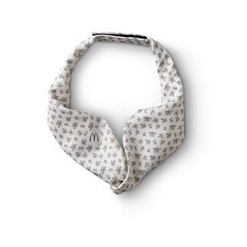 Picture of Ladies' White Mini Floral Tie