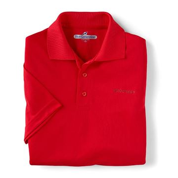 Picture of Men's Red Performance Polo