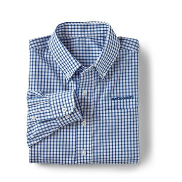 Picture of Men's Blue Gingham Button Down