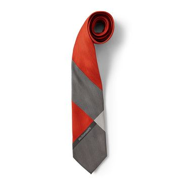 Picture of Men's Red and Grey Block Tie