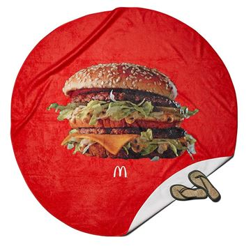 Picture of Big Mac Round Beach Towel