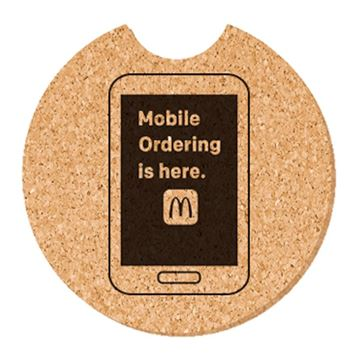 Picture of Mobile Ordering Cork Car Coaster - 50 per Pack