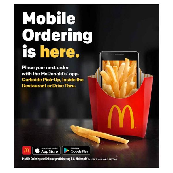 Picture of Mobile Ordering Table Decal - Set of 10