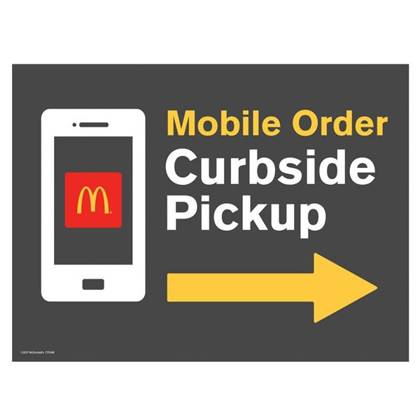 Picture of Mobile Ordering Directional Lawn Sign