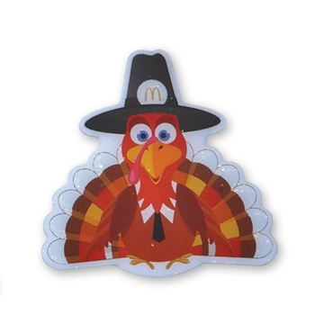 Picture of Glitter Turkey Lapel Pin