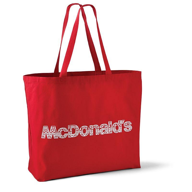 McDonald's Red Fair Isle Tote Bag - Smilemakers