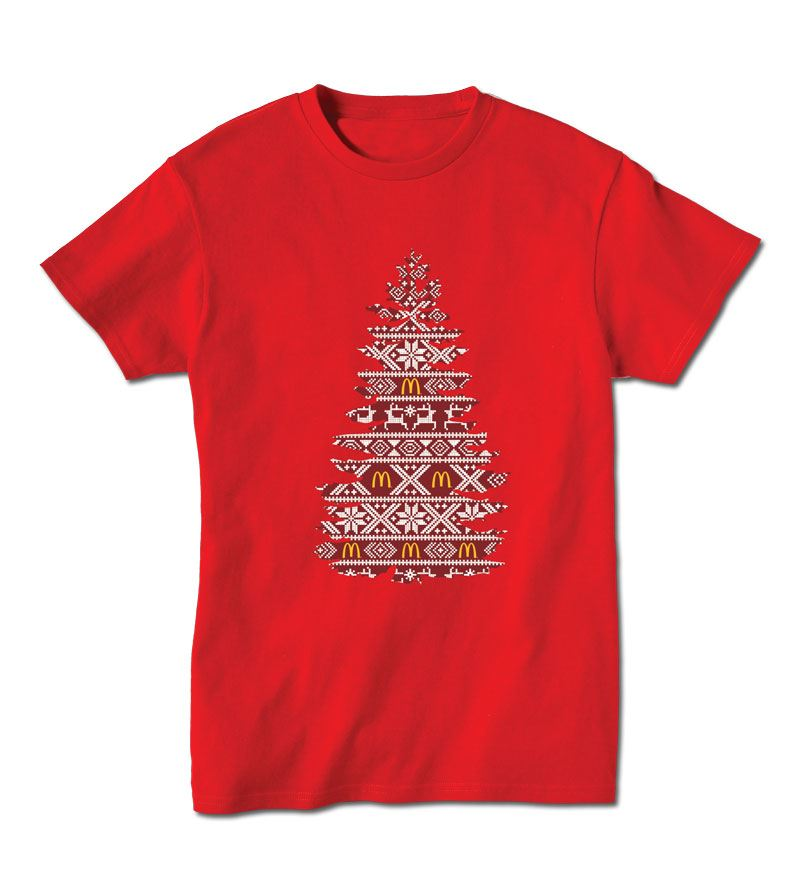 Holiday Tree Fair Isle T-shirt - Smilemakers