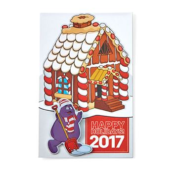 Picture of Grimace Shoveling Lapel Pin with Pin Card