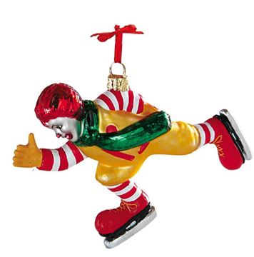 Picture of Skating Ronald Blown Glass Ornament