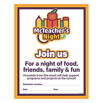 Picture of McTeacher's Night Location Poster