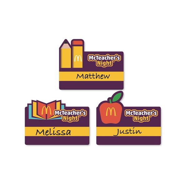 mcteacher s night name tag stickers 100 per roll smilemakers