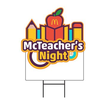 Picture of McTeacher's Night Lawn Sign