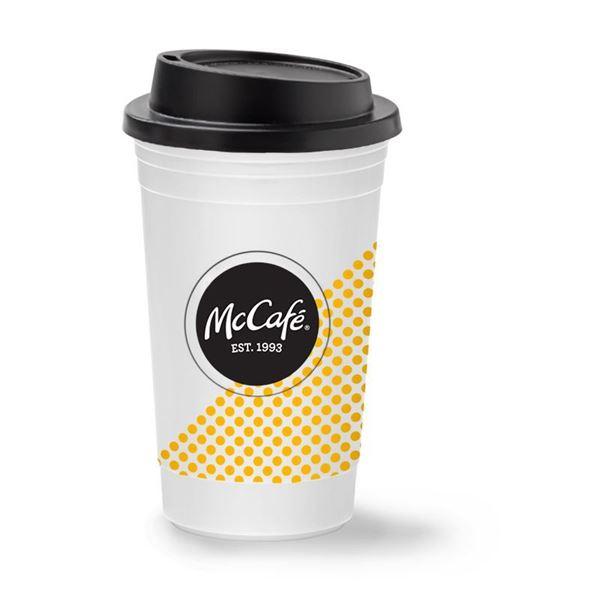 Picture of 15 oz McCafe White Travel Mug