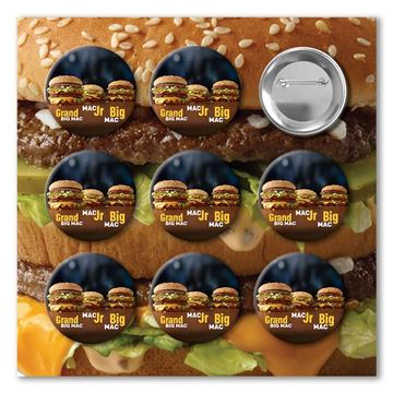 Picture of Round Big Mac Buttons - 27 per Pack