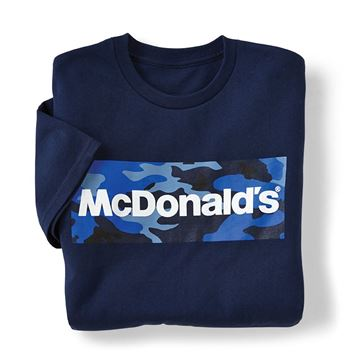 Picture of McDonald's Navy Camo Wordmark T-Shirt