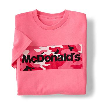 Picture of McDonald's Pink Camo Wordmark T-Shirt