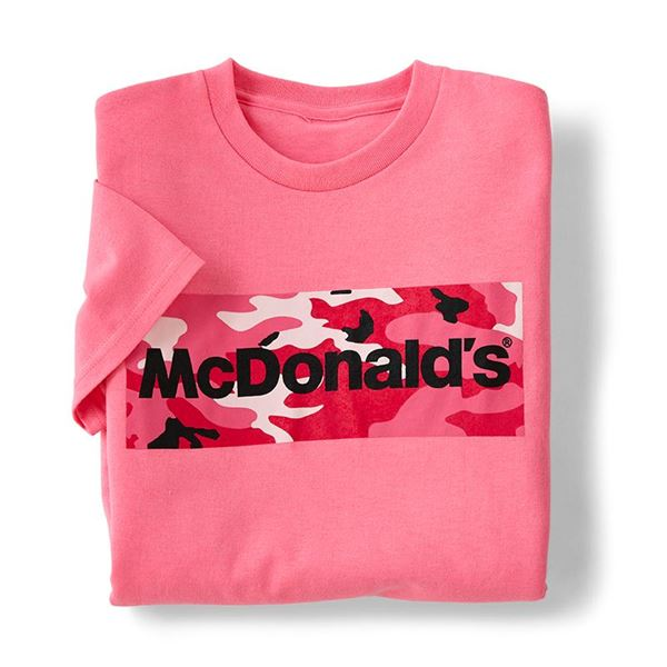 Mcdonald's Pink Smilemakers Camo Shirt T Wordmark CxBdEQroeW