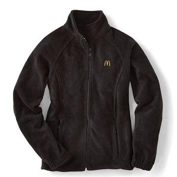 3465898287ad7 Ladies  Harriton® Black Full-Zip Fleece Jacket