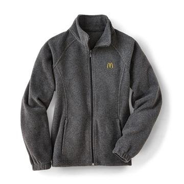 Picture of Ladies' Harriton® Grey Full-Zip Fleece Jacket