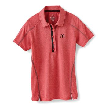 Picture of Ladies' Red Sport Performance Polo