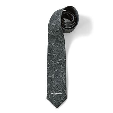 Picture of Men's Grey Large Paisley Tie