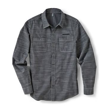 Picture of Men's Grey Chambray Long Sleeve Button Down