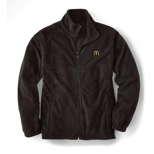 907e1df5ddcc07 Men's Harriton® Black Full-Zip Fleece Jacket - Smilemakers ...