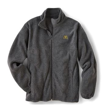 Picture of Men's Harriton® Grey Full-Zip Fleece Jacket