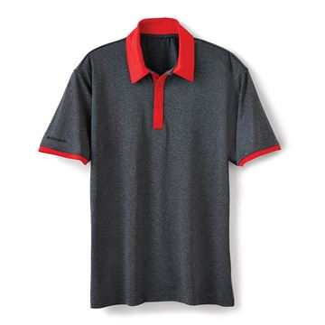 Picture of Men's Red Collar Heather Polo
