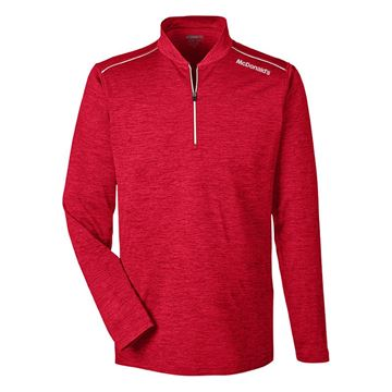 Picture of Men's Red Performance 1/4 Zip Pullover
