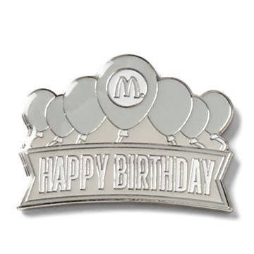 Picture of Happy Birthday Silver Lapel Pin