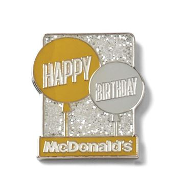 Picture of Happy Birthday Glitter Lapel Pin