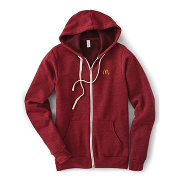 Picture of Cardinal Red Sponge Fleece Full-Zip Hoodie