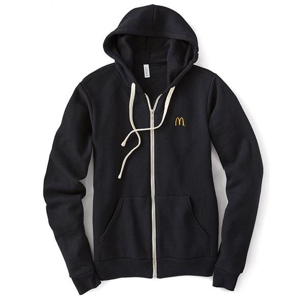 78f08ecec Solid Black Sponge Fleece Full-Zip Hoodie - Smilemakers | McDonald's ...