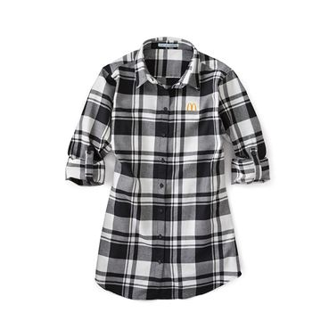 Picture of Ladies' Black and White Flannel Shirt