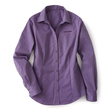 Picture of Ladies' Grape Harvest Crosshatch Easy Care Button-Down Shirt