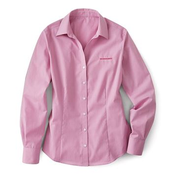Picture of Ladies' Pink Orchid Crosshatch Easy Care Button-Down Shirt