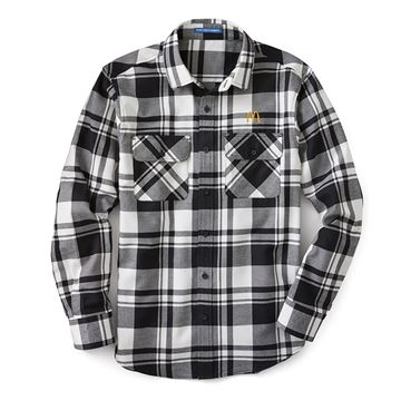 Picture of Men's Black and White Flannel Shirt