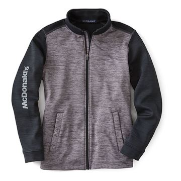 Picture of Men's Colorblock Mélange Fleece Full-Zip Jacket