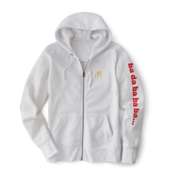 "Picture of Men's White ""Ba Da Ba Ba Ba"" Jingle Hoodie"