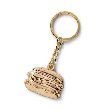 Picture of Gold Big Mac Keychain