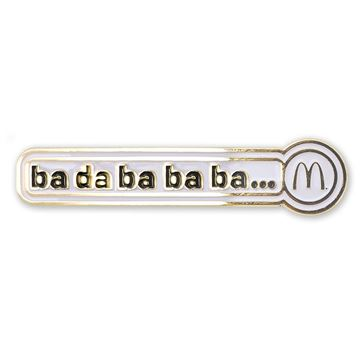 "Picture of ""Ba Da Ba Ba Ba"" Jingle Arches Lapel Pin"
