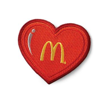 Picture of Arches Heart Iron-On Patch