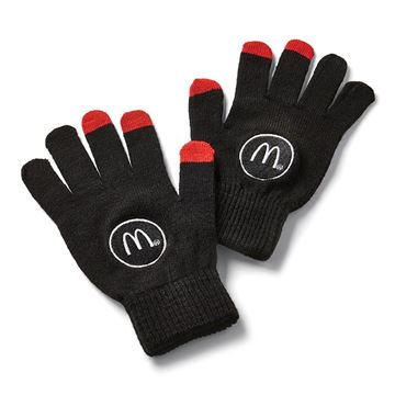 Picture of Black/Red Tech Gloves